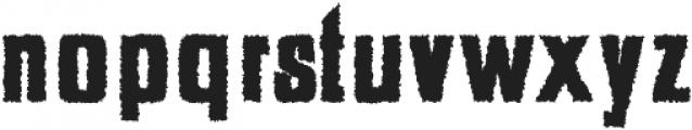 Adyson Distorted otf (400) Font LOWERCASE