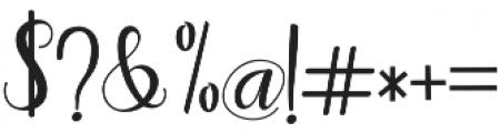adaline script Regular otf (400) Font OTHER CHARS