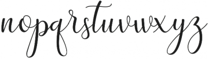 adaline script Regular otf (400) Font LOWERCASE
