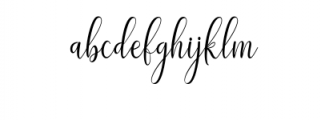 Adaline Script Font LOWERCASE