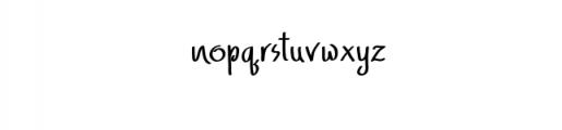 AdfontureTypeface.ttf Font LOWERCASE