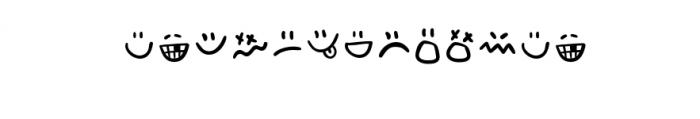 Adventura Letter Emo.otf Font LOWERCASE