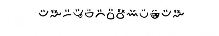 Adventura Letter Emo.ttf Font LOWERCASE