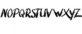 Adventura.ttf Font UPPERCASE