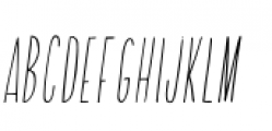 Adelaida Slanted Font UPPERCASE