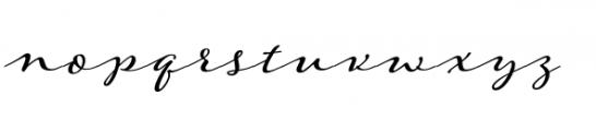 Adorn Garland Smooth Font LOWERCASE
