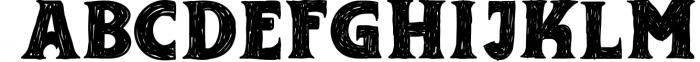 Adelard Scratches Font Font UPPERCASE