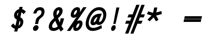 Adagio BoldItalic Font OTHER CHARS