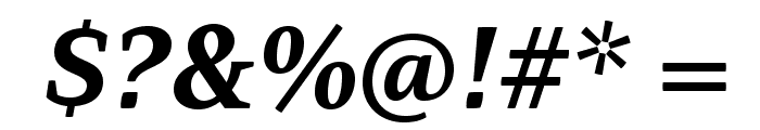 AdamantBG-BoldItalic Font OTHER CHARS