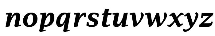 AdamantBG-BoldItalic Font LOWERCASE