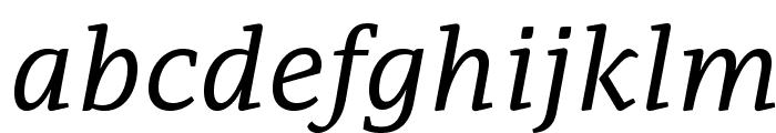 AdamantBG-Italic Font LOWERCASE