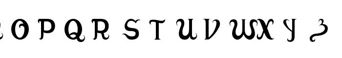 Adamstype Font UPPERCASE