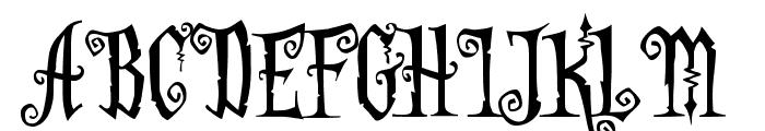 AddamsCapitals Font UPPERCASE
