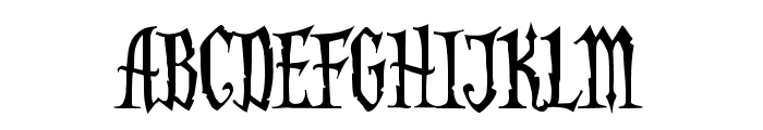 AddamsCapitals Font LOWERCASE
