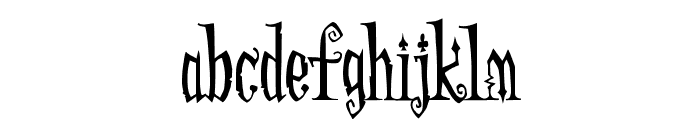 AddamsRegular Font LOWERCASE