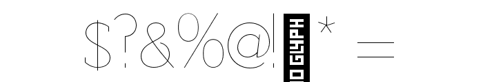 Adelaide-Thin Font OTHER CHARS