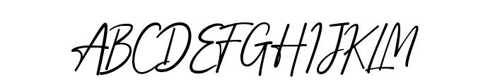 Adelliya Script Font UPPERCASE