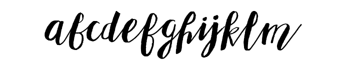 Adellove Font LOWERCASE