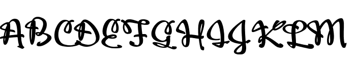 Adielle PERSONAL USE ONLY Font UPPERCASE