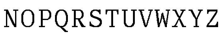 Adjutant-Normal Font UPPERCASE