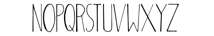 Adouliss Font UPPERCASE