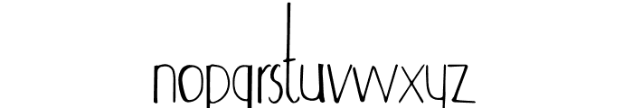 Adouliss Font LOWERCASE