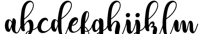 Adreena Script Demo Regular Font LOWERCASE