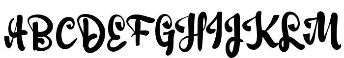 Adulsa Script Font UPPERCASE
