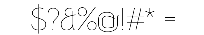 Advent Pro Thin Font OTHER CHARS