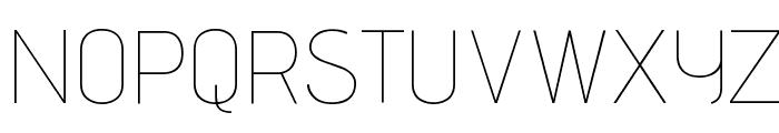 Advent Pro Thin Font UPPERCASE