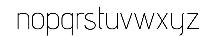 AdventPro-ExtraLight Font LOWERCASE