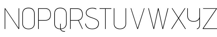 AdventPro-Thin Font UPPERCASE