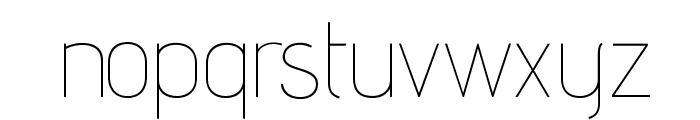 AdventPro-Thin Font LOWERCASE