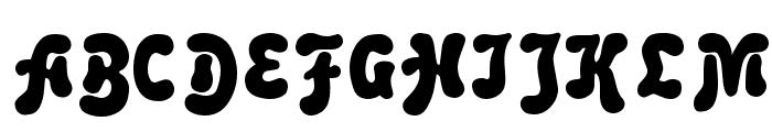 Advert Regular Font UPPERCASE