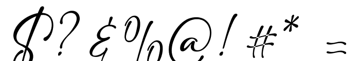 adelia 1 Font OTHER CHARS