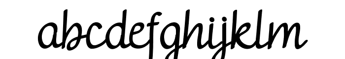 adelitha demo Regular Font LOWERCASE
