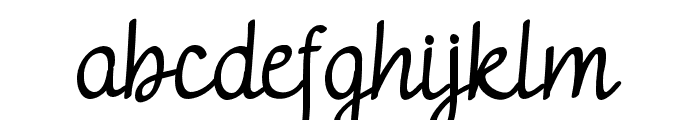 adelithademo-Regular Font LOWERCASE