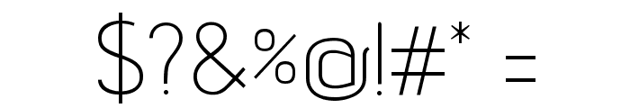 advent Extra Light Font OTHER CHARS