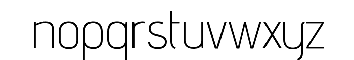advent Extra Light Font LOWERCASE