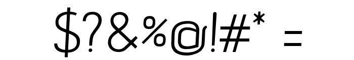 advent Oblique Font OTHER CHARS