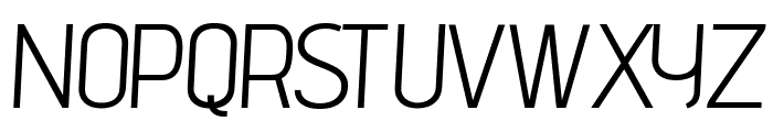advent Oblique Font UPPERCASE