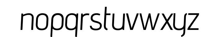 advent Oblique Font LOWERCASE