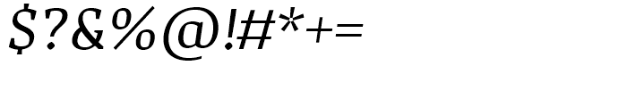 Adagio Serif Regular Italic Font OTHER CHARS