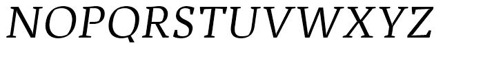 Adagio Serif Regular Italic Font UPPERCASE