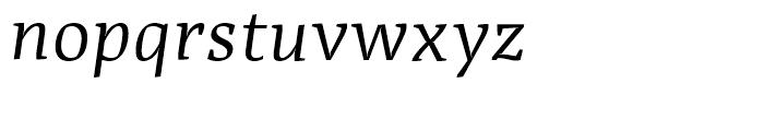 Adagio Serif Regular Italic Font LOWERCASE