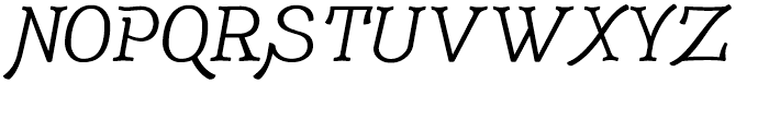 Adantine Text Font UPPERCASE