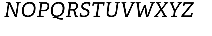 Adelle CYR Italic Font UPPERCASE