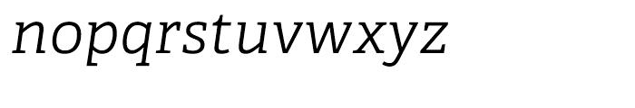 Adelle CYR Light Italic Font LOWERCASE