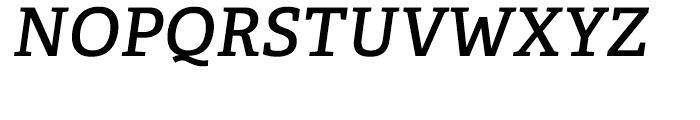 Adelle CYR SemiBold Italic Font UPPERCASE