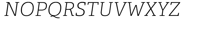Adelle CYR Thin Italic Font UPPERCASE